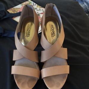 Leather Micheal kros wedges